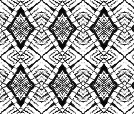Dye Diamond Black and White fabric by mjmstudio on Spoonflower - custom fabric