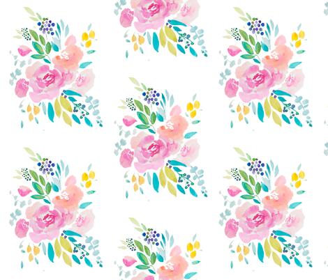 flower fabric by craftberrybush on Spoonflower - custom fabric