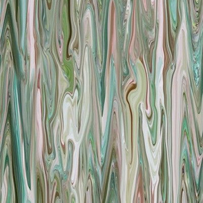DRSC1 -  Melted Marble in Teal - Moss Green - Mauve -Pink - Large - Vertical