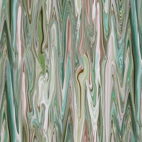 DRSC1 -  Melted Marble in Teal - Moss Green - Mauve -Pink - Small - Vertical