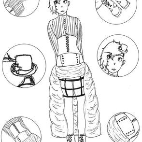 steampunk classy lady