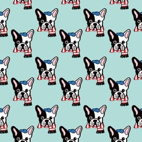 French Bulldog in Robins Egg  Blue