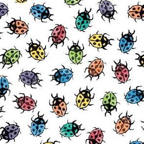 XL rainbow ladybugs