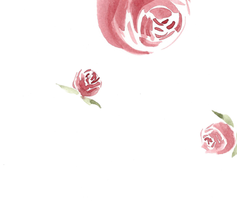 Rose Watercolor fabric by autumnjournal on Spoonflower - custom fabric
