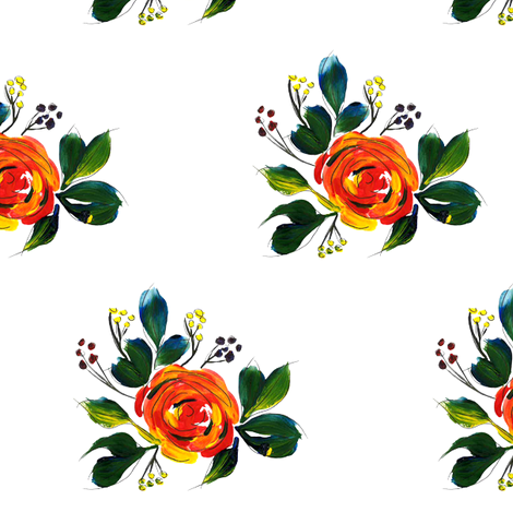 Acrylic_Flowers_1 fabric by atwatercolorstudio on Spoonflower - custom fabric