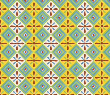 Ancient Egyptian casual decor fabric by unseen_gallery_fabrics on Spoonflower - custom fabric