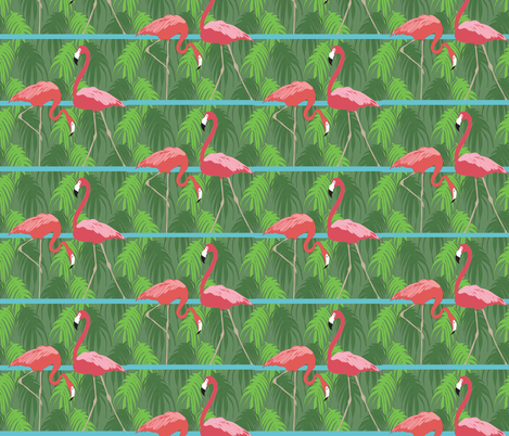Zoo Flamingoes fabric by colour_angel_by_kv on Spoonflower - custom fabric