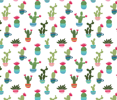 8da382dc7 Mexican cactus print fabric by slava on Spoonflower - custom fabric