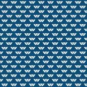 White on Blue