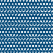 Double white on blue
