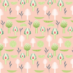artichoke_and_peas_peach
