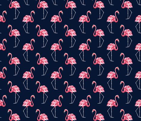 Vintage flamingo fabric by marta_strausa on Spoonflower - custom fabric