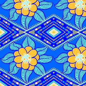 Coralee: Zig-Zag Floral