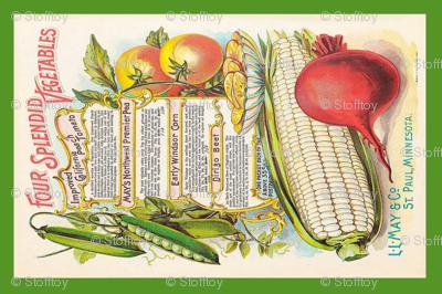 tea towel vintage vegetables