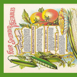 tea towel vintage vegetables