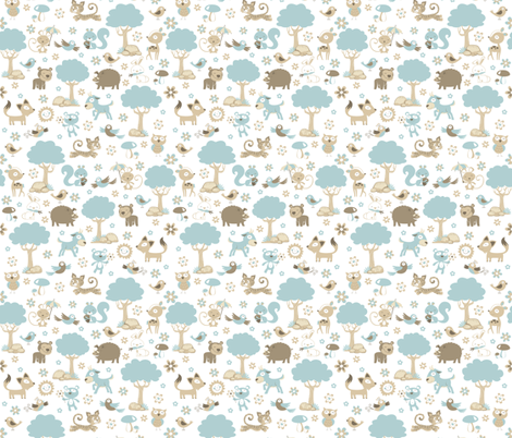 ANIMAL FOREST fabric by crixtina on Spoonflower - custom fabric