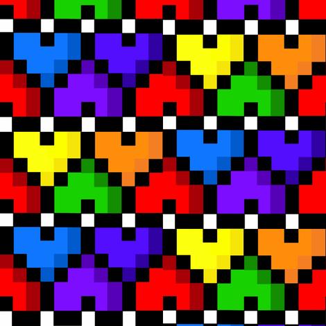 Rainbow hearts fabric by krystalsavage on Spoonflower - custom fabric