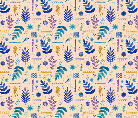 Hide and Go Seek fabric by abigailhalpin on Spoonflower - custom fabric