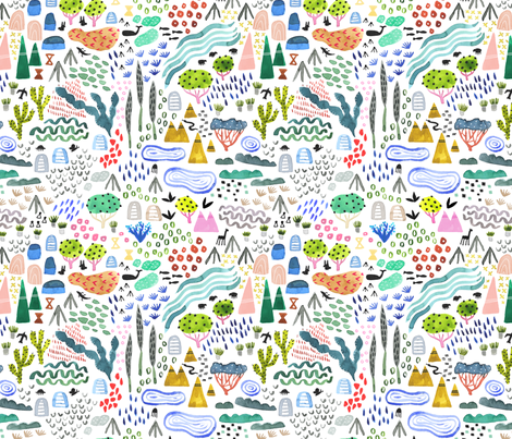 Colorful Wilderness fabric by katievernon on Spoonflower - custom fabric