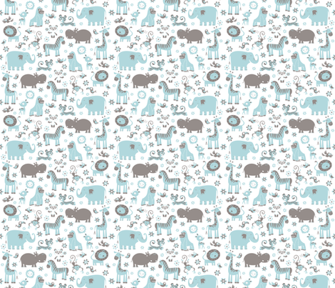 ZOO fabric by crixtina on Spoonflower - custom fabric