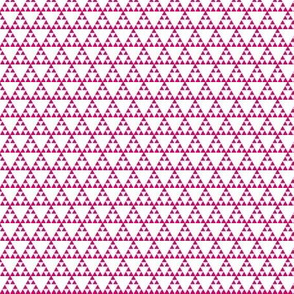 Tribal Triangle in Pink - SMALL