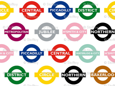 london underground signs - large