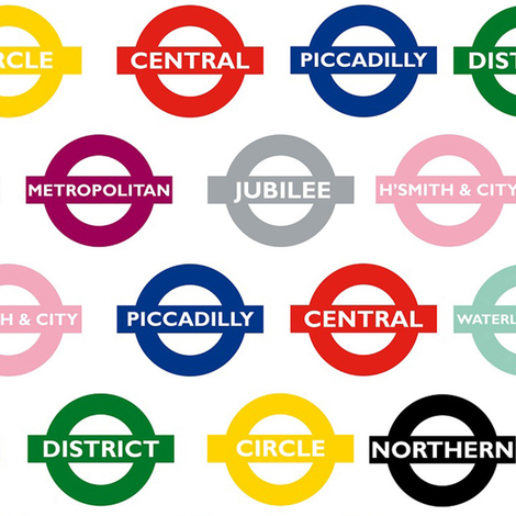 london underground signs - large fabric by stofftoy on Spoonflower - custom fabric