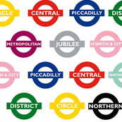london underground signs - large
