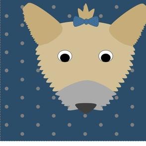 Little Blue Dogs - Yorkie Pillow Kit