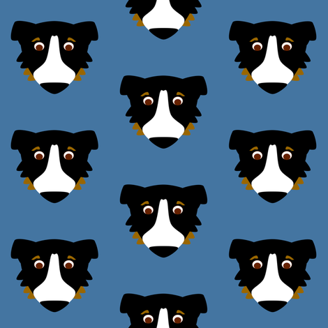 Aussie Dog Repeat fabric by blue_dog_decorating on Spoonflower - custom fabric