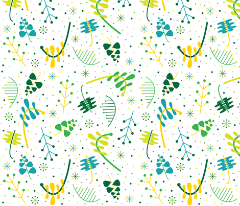 sprinkled with springtime fabric by karamiadesigns on Spoonflower - custom fabric