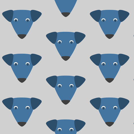 Blue Dog Repeat fabric by blue_dog_decorating on Spoonflower - custom fabric