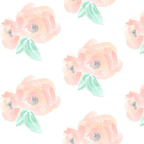 Peach Blush Blossoms / Large