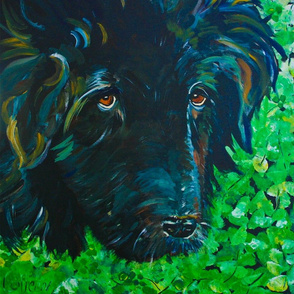 Bear_in_clover_art_12x12