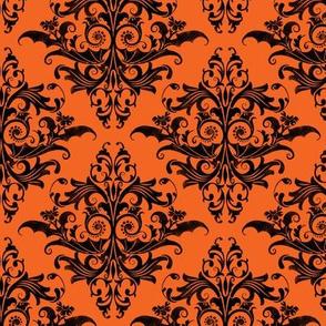 Calvarium Damask Small - orange
