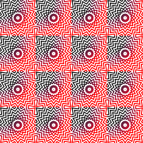 Dizzy in Red & Black fabric by ginascustomcreations on Spoonflower - custom fabric