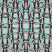 AW 4 -  Geometric Trellis Matrix in maroon,  mauve and teal, large  scale, vertical