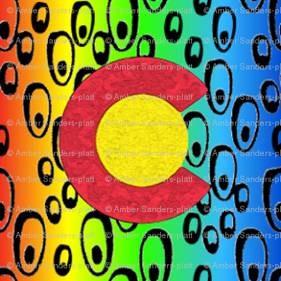 2x2 Phish bubbles Rainbow red to blue Colorado Flag