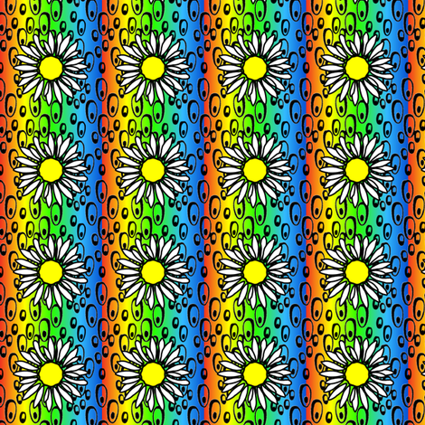 2x2 Phish bubbles Rainbow red to blue2 Background Flower fabric by darkrose on Spoonflower - custom fabric