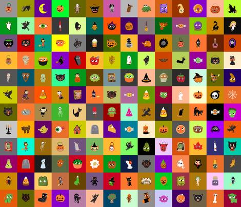 Halloween Fussy Cut fabric by heidikenney on Spoonflower - custom fabric