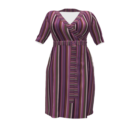 Bella Nina 4 Variegated Stripe in mauve, lavender, pink , rusty brown and olive green