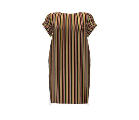 BN2 - Variegated Stripe in Forest Green - Caramel Tan - Mauve - Burgundy Brown