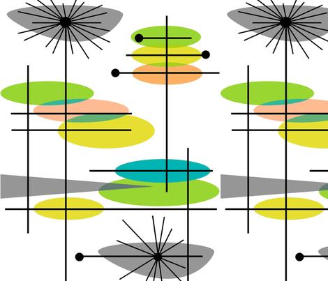 Mid-Century Modern Abstract 3-ch-ch fabric by hot4tees_bg@yahoo_com on Spoonflower - custom fabric