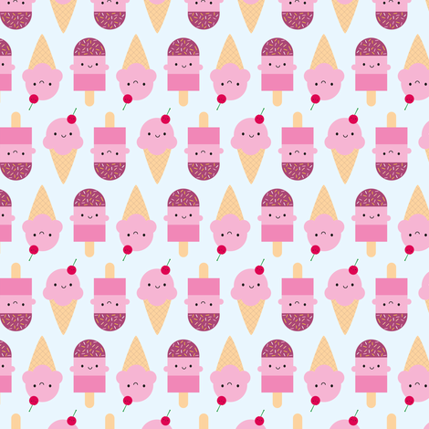 Summer Ice Cream Treats fabric by marcelinesmith on Spoonflower - custom fabric