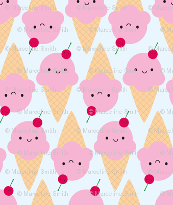 Kawaii Ice Cream Cones