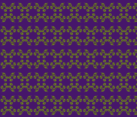 Rolling Rings of Leafy Links on Purple Grape - Small Scale fabric by rhondadesigns on Spoonflower - custom fabric