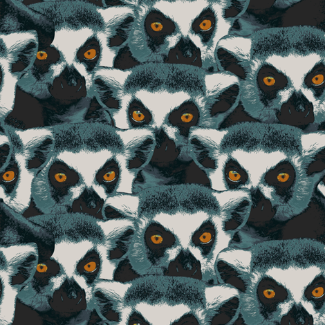 Lemurs watching fabric by susiprint on Spoonflower - custom fabric
