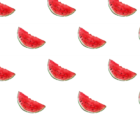 Watermelon Smile fabric by pndesigns2 on Spoonflower - custom fabric