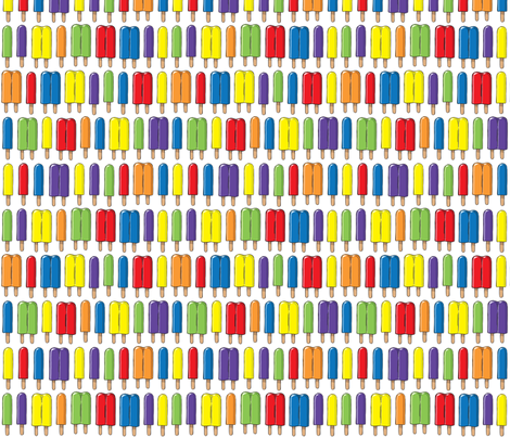 Popsicle Stripes fabric by tabpin on Spoonflower - custom fabric