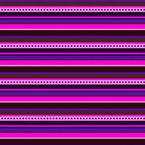 BN7- Narrow Variegated Stripes in Pink - Purple - Burgundy - Maroon - Crrosswise